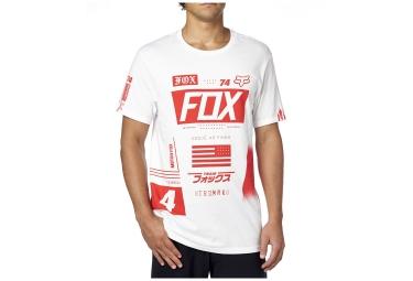 fox t shirt union premium blanc