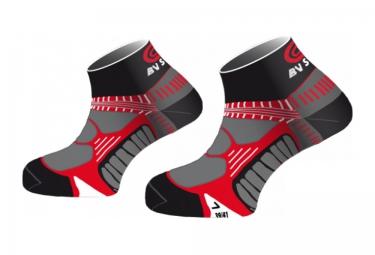 bv sport chaussettes running noir rouge