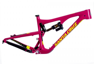santa cruz 2016 cadre bronson 2 cc carbon 27 5 fox float x evol 150mm rose jaune