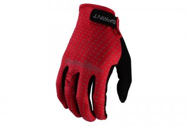 troy lee designs 2016 gants enfant sprint rouge