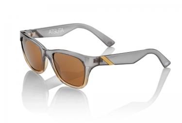 100 lunettes atsuta gris transparent orange