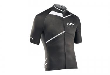 northwave maillot manches courtes blade noir blanc