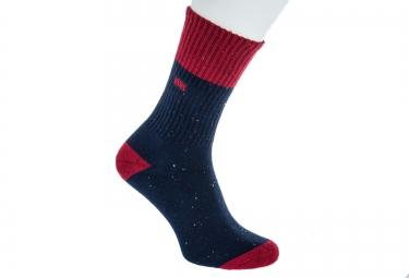 vans paire de chaussettes wheeler bleu rouge taille 38 5 42