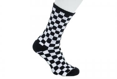 vans paire de chaussettes checkerboard crew noir blanc taille 38 5 42