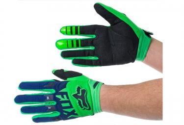 fox paire de gants dirtpaw race vert bleu