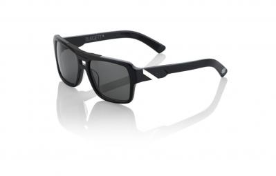 100 lunettes burgett noir verre grey tint