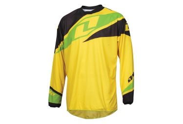 one industries maillot manches longues atom jaune noir vert