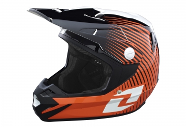 one industries casque integral atom phantom orange blanc noir