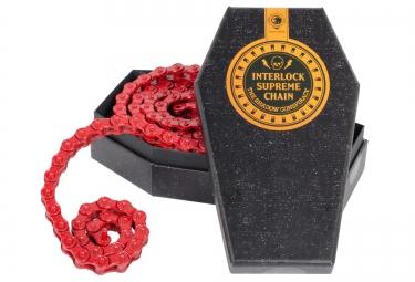 shadow chaine demi maillon 1 8 interlock supreme rouge