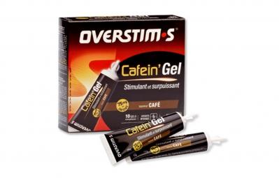 overstims 10 gels energetiques cafein gel cafe