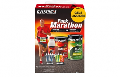 overstims pack marathon ceinture running 2 gourdes