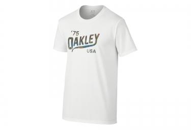 oakley tee shirt legs coupe droite blanc