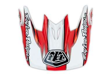 troy lee designs visiere d3 evo blanc rouge