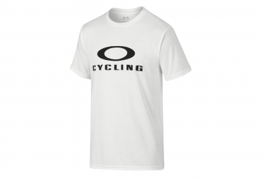 oakley tee shirt o cycling coupe droite white