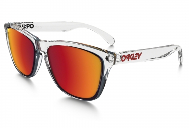 oakley lunettes frogskins crystal clear torch iridium oo9013 a5