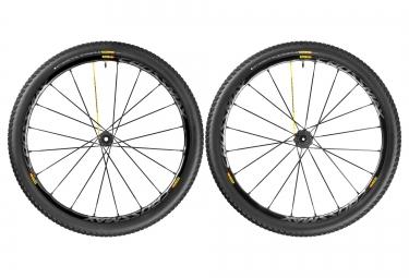 mavic paire de roues crossmax sl pro 29 av 15 mm ar 12x142mm corps shimano pneu puls