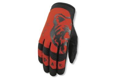 dakine paire de gants covert rouge