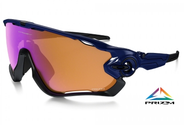 oakley paire de lunettes prizm trail jawbreaker navy prizm trail ref oo9290 04