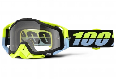 100 masque racecraft antigua jaune bleu ecran transparent