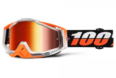 100 masque racecraft ultrasonic orange ecran mirror orange