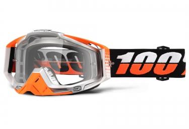 100 masque racecraft ultrasonic orange ecran transparent