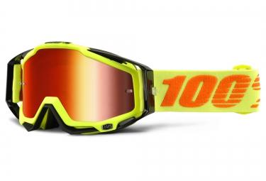 100 masque racecraft attack jaune ecran mirror rouge