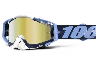 100 masque racecraft tie dye bleu ecran mirror or