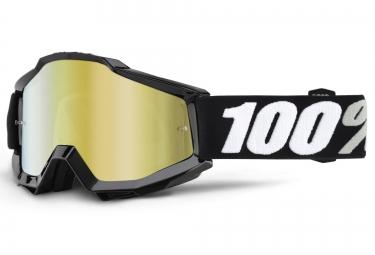100 masque accuri tornado noir ecran mirror or