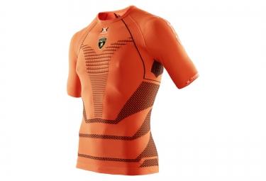 x bionic for automobili lamborghini maillot running homme orange noir