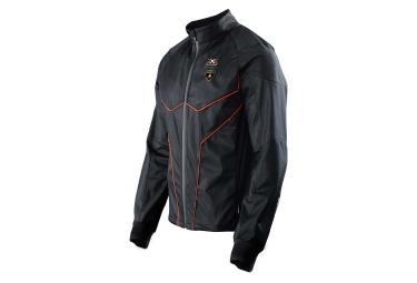 x bionic for automobili lamborghini veste running homme noir orange