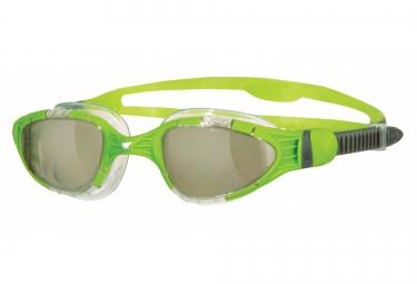 zoggs lunettes de natation aqua flex titanium vert
