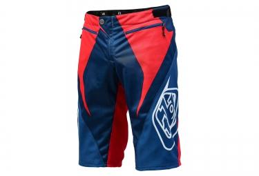 troy lee designs 2016 short sprint rouge blanc bleu