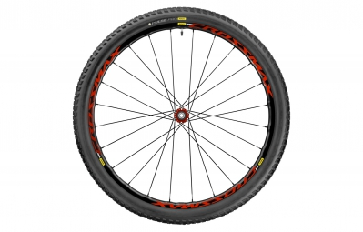 mavic roue avant crossmax elite 27 5 boost 15x110mm pneu pulse pro 2 25 rouge