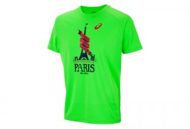 asics t shirt schneider marathon de paris vert