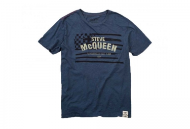 troy lee designs t shirt mcqueen americana bleu