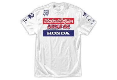 troy lee designs t shirt enfant team racing ii blanc