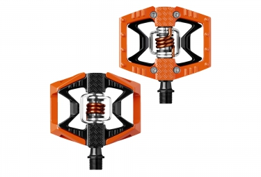 crankbrothers paire de pedales double shot orange noir