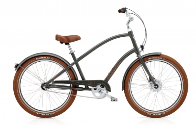 electra velo complet beach cruiser townie balloon 3i army grey