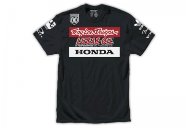 troy lee designs t shirt enfant team racing ii noir
