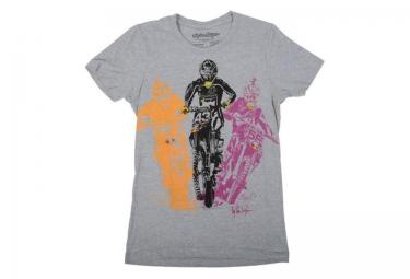 troy lee designs t shirt enfant bright riders gris m