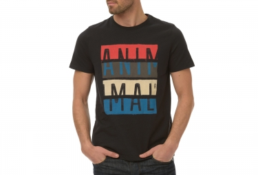 animal t shirt leade noir