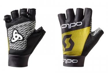 odlo gants team replica noir jaune