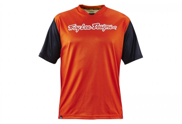 troy lee designs maillot manches courtes skyline orange