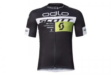 odlo maillot manches courtes team replica noir jaune