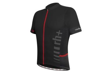 zero rh maillot manches courtes logo evo noir rouge