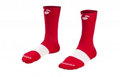 bontrager paire de chaussettes race 13cm rouge