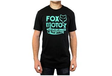 fox t shirt scripted noir