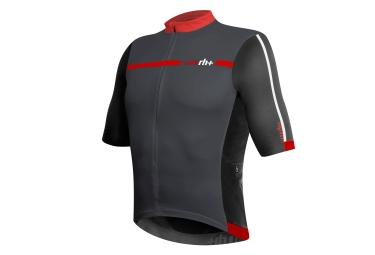zero rh maillot manches courtes legend gris noir rouge