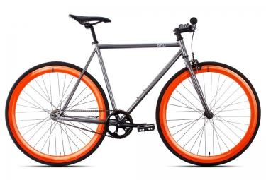 6ku velo complet fixie barcelona gris orange