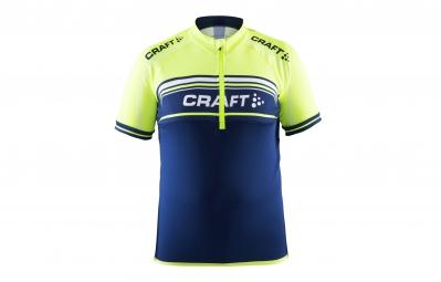 craft maillot enfant logo bleu jaune fluo